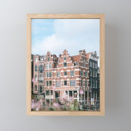 Summer in Amsterdam, Holland || Cityscape travel photography in light colors Framed Mini Art Print