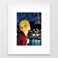 les mis Framed Art Prints featuring Enjolras in Paris les mis by Pruoviare