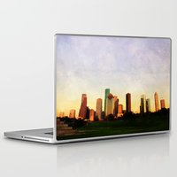 houston Laptop & iPad Skins featuring Houston Skyline by Tracy Carlson Photography