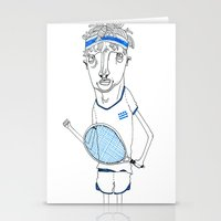 tennis Stationery Cards featuring Tennis by Andrea Forgacs
