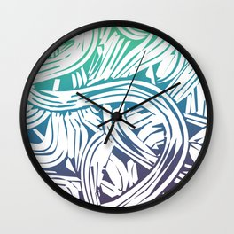 Colorful Swirls Green Palette Wall Clock