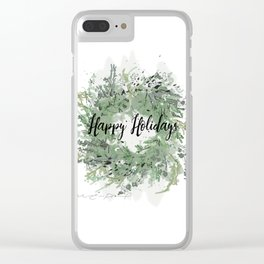 Winter crown natural Clear iPhone Case