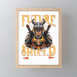 Awesome Future Shield Maiden Nordic Viking Warrior Framed Mini Art Print