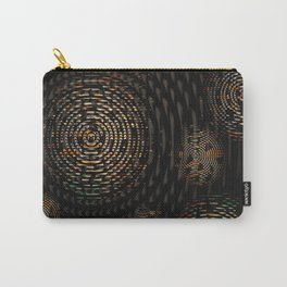 Dark and Orange Circle Weave Pattern Carry-All Pouch