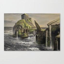 Aztec Island | Concept Environmental Landscape Concept Design Canvas Print