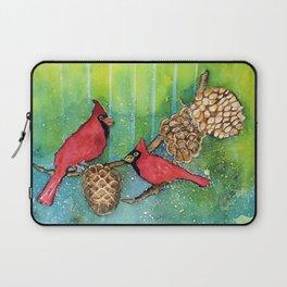 Christmas Cardinals Laptop Sleeve