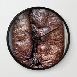 Coffee bean close up Wall Clock
