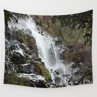 waterfall Wall Tapestries featuring Waterfall by Four Hands Art