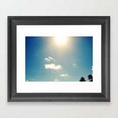 sunny sky Framed Art Print