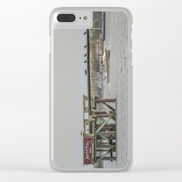 Cormorants on the Greasy Pole Clear iPhone Case