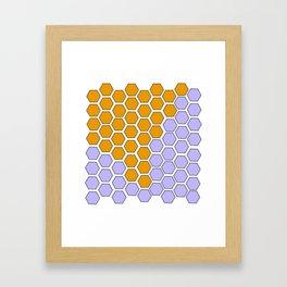 Lavender Honeycomb Framed Art Print