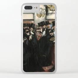 Edouard Manet, Masked Ball at the Opera, 1873 Clear iPhone Case