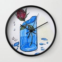 Broke Promise Rose Wall Clock