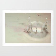 Milk Drop Art Print