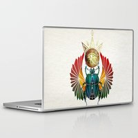 egyptian Laptop & iPad Skins featuring egyptian beetle by Manoou