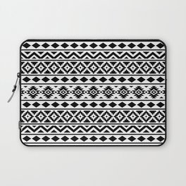 Aztec Essence Ptn III Black on White Laptop Sleeve