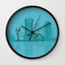 Wichita in Blue Wall Clock