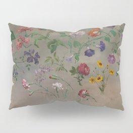 Studies of Flowers by Jacques-Laurent Agasse, 1848 Pillow Sham