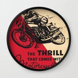 Vintage poster - Motorcycling Wall Clock
