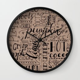 All Things Fall on Craft Wall Clock