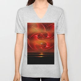 Abstract perfection - Sunst Unisex V-Neck