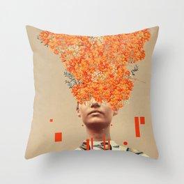 Bird Flight in Autumn Throw Pillow