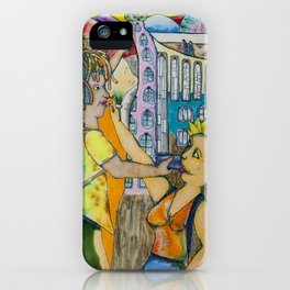 The castle on the rock and other sights iPhone Case