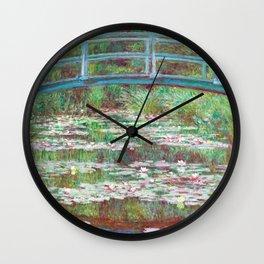 The Japanese Footbridge by Claude Monet Wall Clock