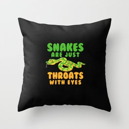 Ophiology Pet Snakes Throats and Reptiles Gift Idea Throw Pillow