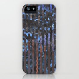 Abstract blue and brown iPhone Case