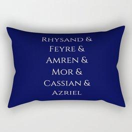 Rhysand Feyre Amren Cassian Mor Azriel ACOMAF Fandom Rectangular Pillow