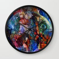 friday Wall Clocks featuring Friday by oxana zaika