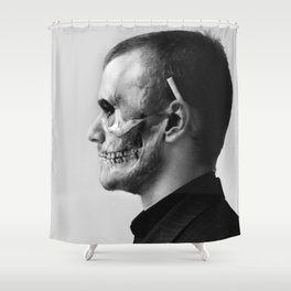 Skull Double Exposure Shower Curtain