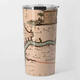Map Of Gambia 1745 Travel Mug