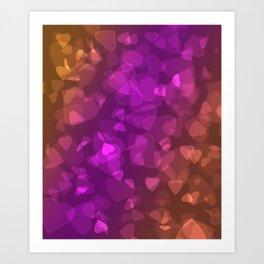 A million hearts . Bokeh . Art Print