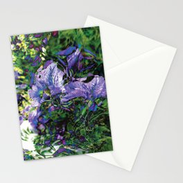 Abstracted Purple Petunias Stationery Cards