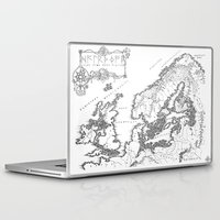uncharted Laptop & iPad Skins featuring HC SVNT DRACONE by John Page