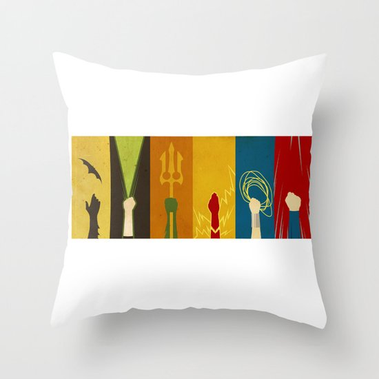 Throw Pillows With Jewels : Justice Throw Pillow by Danny Haas Society6