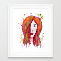 valentina Framed Art Prints featuring Valentina by Laurie Art Gallery