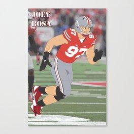 Ohio State Buckeyes - Joey Bosa (2015) (Vector Art) Canvas Print