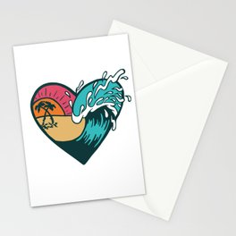 Wave Heart Stationery Cards
