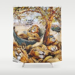a herd is coming Shower Curtain