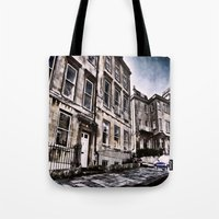 the neighbourhood Tote Bags featuring Character Building I by JeraNour