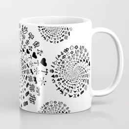 Love Symbol Mandala Black on White Coffee Mug