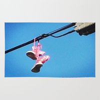 sneakers Area & Throw Rugs featuring DISCO SNEAKERS  by Punkboy Marti