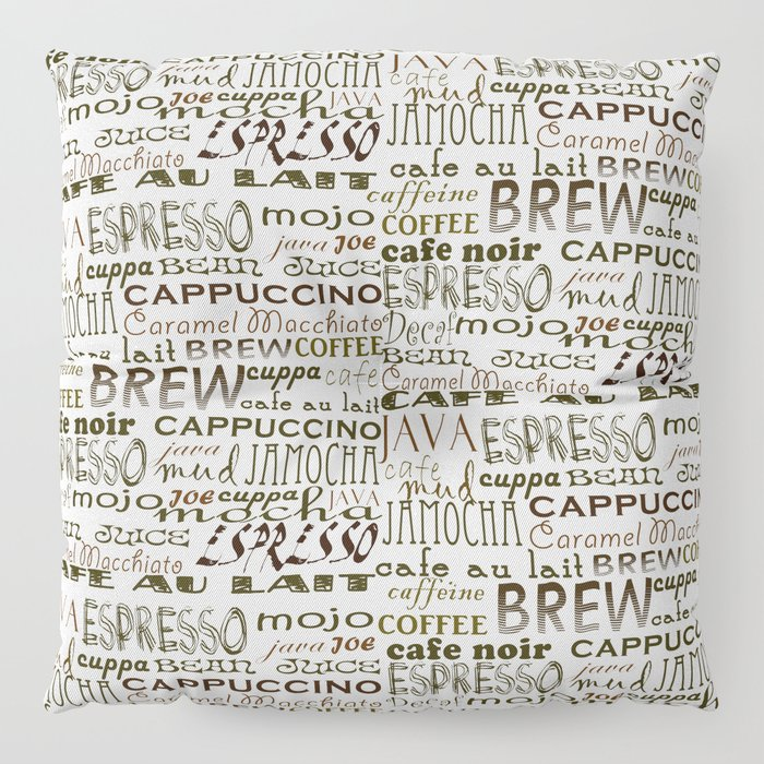 Coffee - In So Many Words Floor Pillow