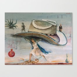 Allegory of Machismo, Displaced Canvas Print