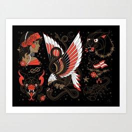 Americana - Part I (Alternative Version) Art Print