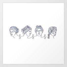 Aphrodite Chain Art Print