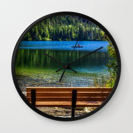 Picture California USA June Lake Nature Bench Wall Clock